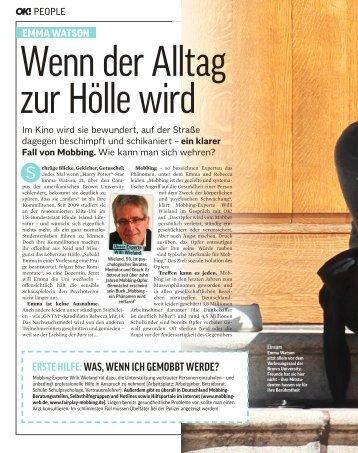 ErstE HilfE: Was, WEnn icH gEmobbt WErdE? - Willi Wieland