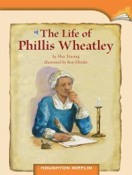 Lesson 15:The Life of Phillis Wheatley