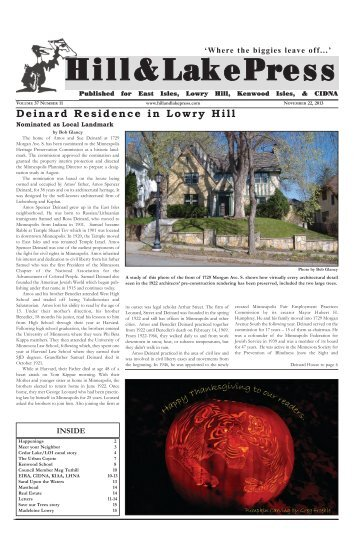 November 2013 - Hill and Lake Press