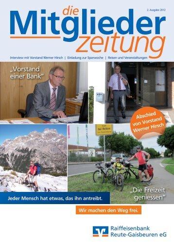 Mitgliederzeitung Ausgabe 2 - 2012 - RB Reute-Gaisbeuren