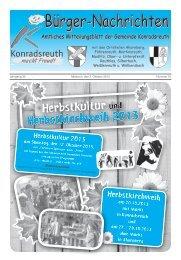 Mitteilungsblatt Oktober 2013 - Konradsreuth