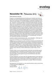 Newsletter Nr. 7(Dezember 2013) - Evalag
