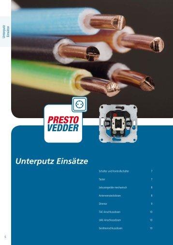 Unterputz Einsätze - Presto-Vedder