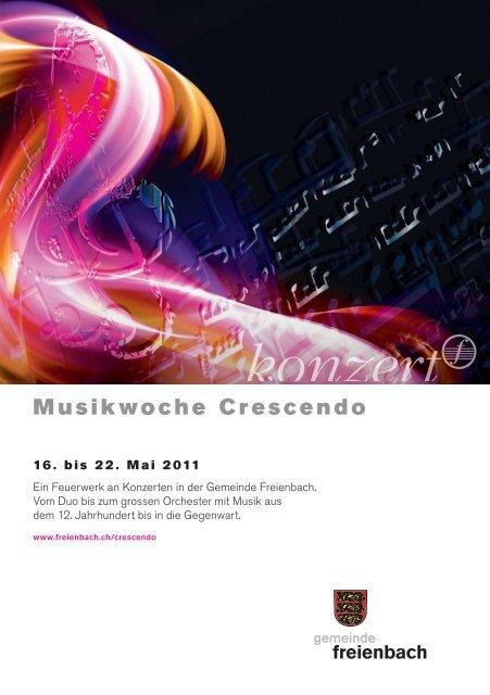 Wochenprogramm Musikwoche Crescendo 2011 [PDF, 21.0 MB]
