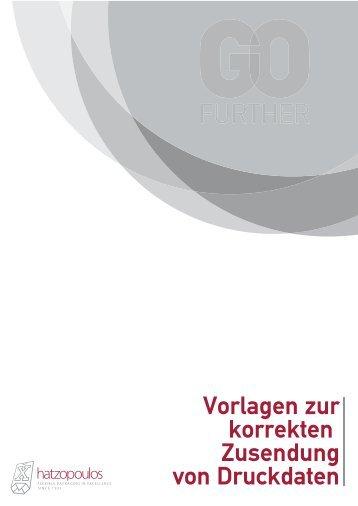 Vorlagen zur korrekten Zusendung von Druckdaten - Hatzopoulos SA