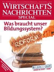 Was braucht unser Bildungssystem? - Wirtschaftsnachrichten