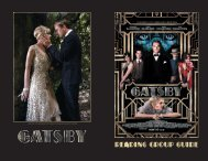 READING GROUP GUIDE - The Great Gatsby - Warner Bros.