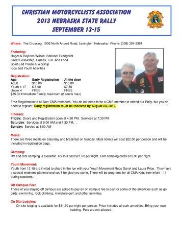 Christian Motorcyclists Association 2013 Nebraska State Rally ...