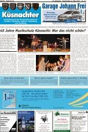 40 Jahre Musikschule Küsnacht: War das nicht schön? - Lokalinfo AG
