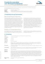Produktinformationsblatt Maximus Medium Flex Bond - fairvesta ...