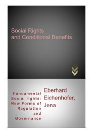 Social Rights and Conditional Benefits - ILERA