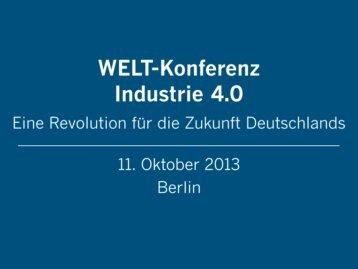 Präsentationen der Redner (zusammengefasst) - WELT-Konferenz ...