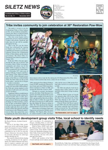 November 2013 - Confederated Tribes Of Siletz Indians
