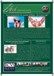 Newsletter Summer 2013 - Ark Veterinary Centre