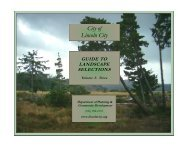 Guide to Landscaping Selections - Trees - City of Lincoln City, OR