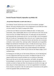 Porträt Theodor Fleischli, Aphasiker aus Widen AG - MyHandicap