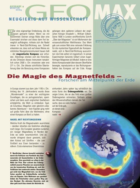 Die Magie des Magnetfelds – - Max-Wissen