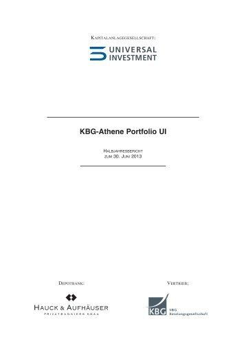KBG-Athene Portfolio UI - Hauck & Aufhäuser Privatbankiers KGaA