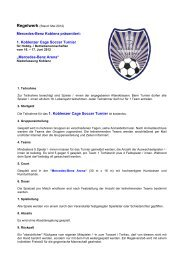 Regelwerk Mercedes Koblenz Cup