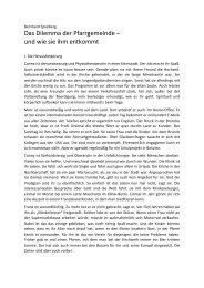 Bernhard Spielberg - Das Dilemma der ... - St. Virgil Salzburg