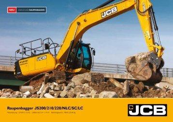 Raupenbagger JS200/210/220/NLC/SC/LC - JCB