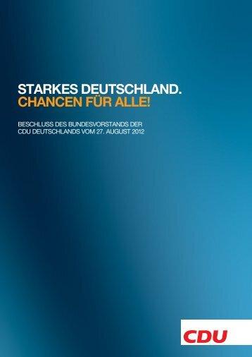 STARKES DEUTSCHLAND. CHANCEN FÜR ALLE! - Marie-Luise Dött