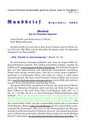 September 2005 - Weckruf, Hat der Countdown begonnen? - Freie ...
