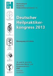 Deutscher Heilpraktikerkongress 2013 - DDH