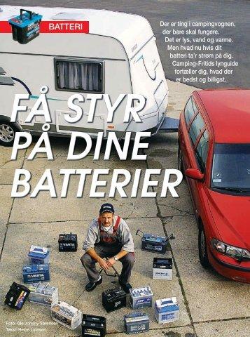 Batteritest Camping-Fritid - Exides batterier