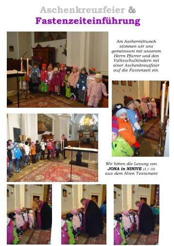 Aschenkreuzfeier & Fastenzeiteinführung