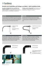 Hinweise zum Anschließen und Verlegen von Kabeln · Cable ...