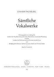 Sämtliche Vokalwerke - Bärenreiter Verlag