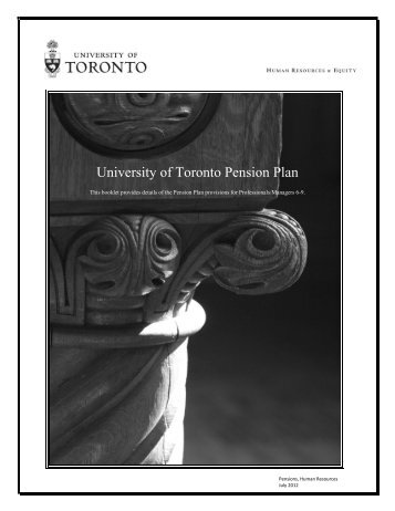 PM 6-9 - Human Resources & Equity - University of Toronto