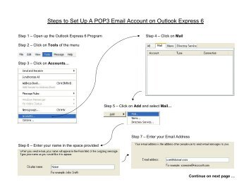 Steps to Set Up A POP3 Email Account on Outlook ... - Axac Solutions