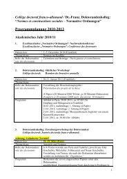 Collège doctoral Programm 2010-2013