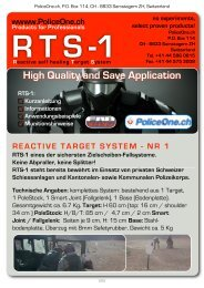 RTS-1 reactive target system / Reaktives ... - bei PoliceOne.ch