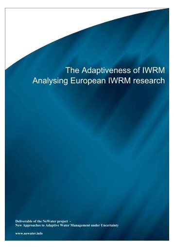 The Adaptiveness of IWRM Analysing European IWRM ... - NeWater