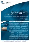 The Adaptiveness of IWRM Analysing European IWRM ... - NeWater - Page 3
