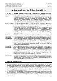 Anbauanleitung für Sojabohnen 2013 - LTZ Augustenberg