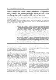 Prenatal diagnosis of Meckel-Gruber syndrome and Dandy-Walker ...