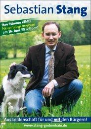 Wahlprogramm - Sebastian Stang