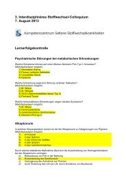 Lernerfolgskontrolle - Interdisziplinäres Stoffwechsel-Centrum