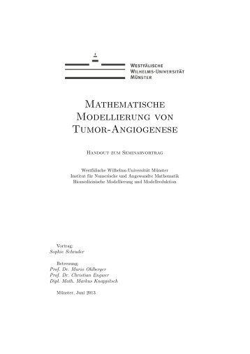 Mathematische Modellierung von Tumor-Angiogenese