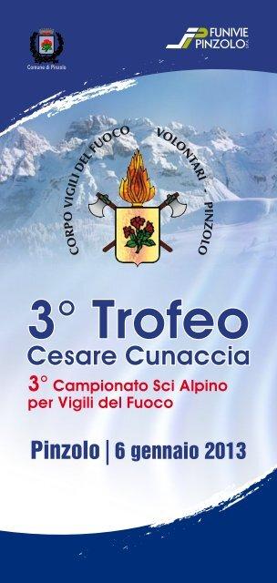 opuscolo Trofeo Cesare Cunaccia