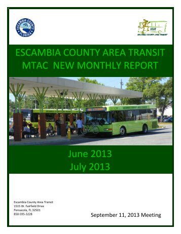 MTAC Report September 11, 2013 - Escambia County Area Transit