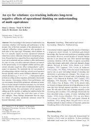 eye-tracking indicates long-term negative effects of operational ...