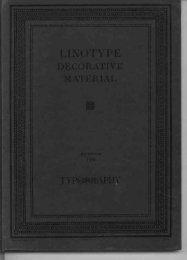 Linotype Decorative Material, 1926 Reprinted 1929 ... - Linotype.org