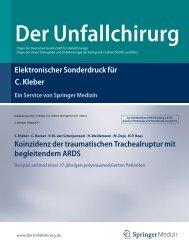 Elektronischer Sonderdruck für Koinzidenz der ... - AG Polytrauma