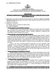 NOTIFICATION ENTRANCE EXAMINATION FOR ... - CEE-Kerala