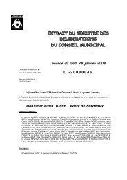 Délibération 20080046 - Bordeaux